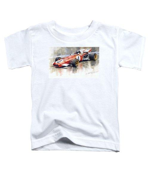 1971 Ferrari 312 B2 1971 Monaco Gp F1 Jacky Ickx Toddler T-Shirt