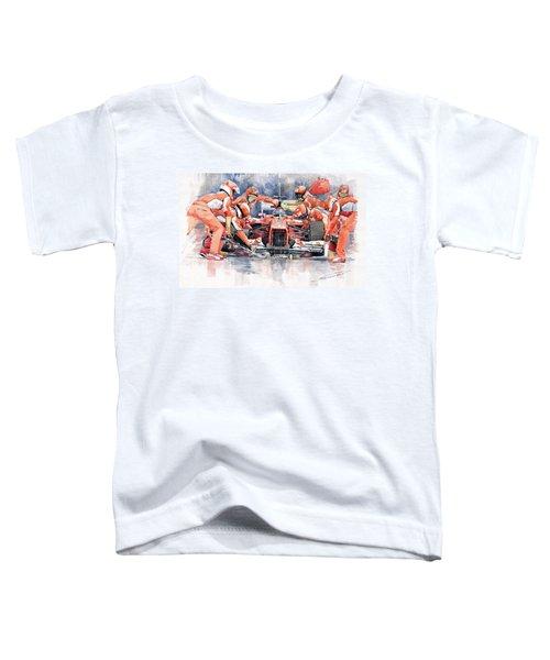2012 Ferrari F 2012 Fernando Alonso Pit Stop Toddler T-Shirt