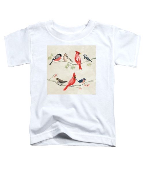 Festive Birds I Toddler T-Shirt by Danhui Nai