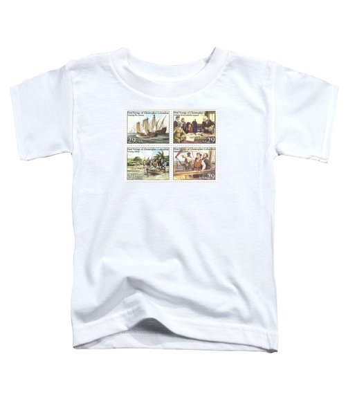 First Voyage Of Christopher Columbus Commemorative Stamp Block Toddler T-Shirt