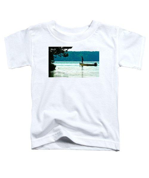Fishing Crab Orchard Lake Toddler T-Shirt