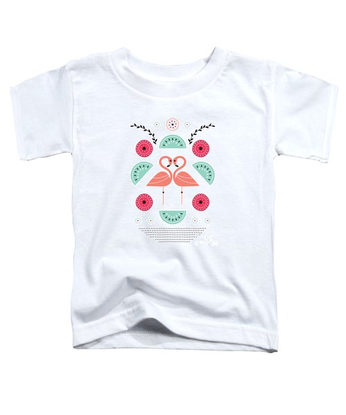 Flamingo Flutter Toddler T-Shirt by Susan Claire
