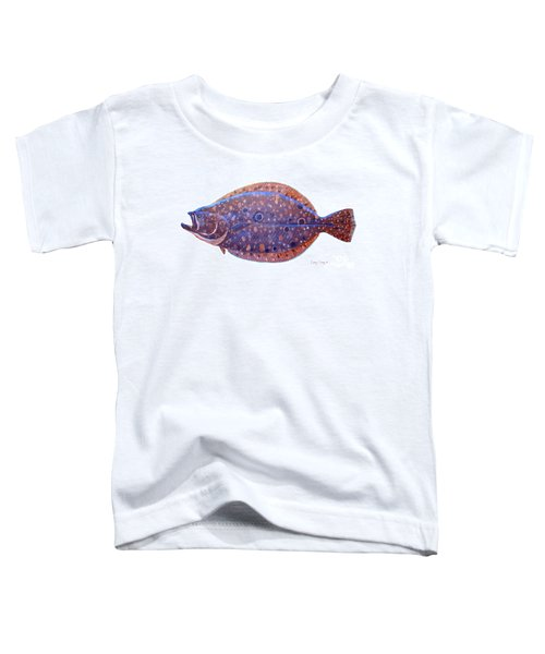 Flounder Toddler T-Shirt by Carey Chen