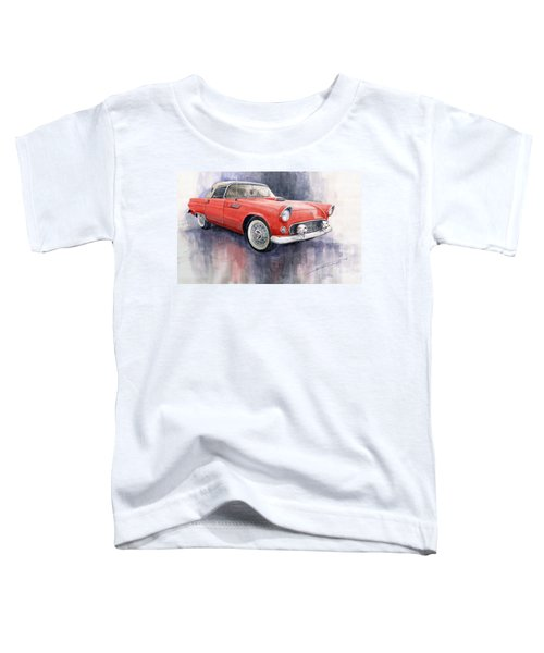 Ford Thunderbird 1955 Red Toddler T-Shirt