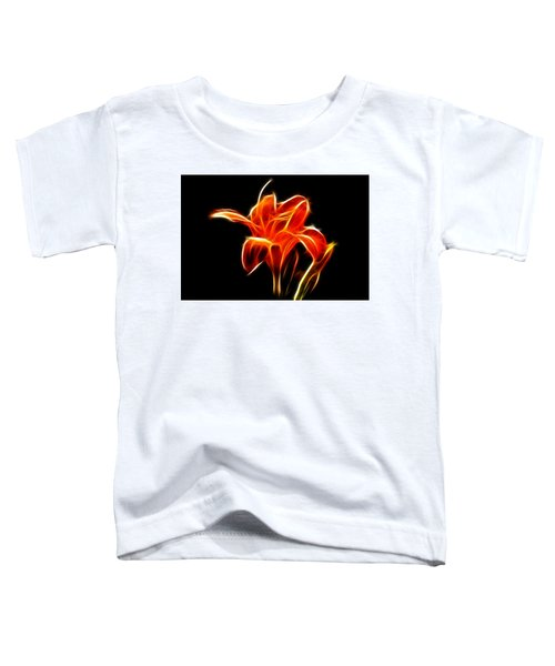 Toddler T-Shirt featuring the  Fractaled Lily by Bill Barber