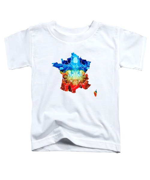 France - European Map By Sharon Cummings Toddler T-Shirt by Sharon Cummings