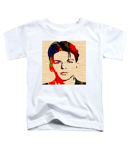Toddler T-Shirt featuring the mixed media Frank Sinatra Art by Marvin Blaine