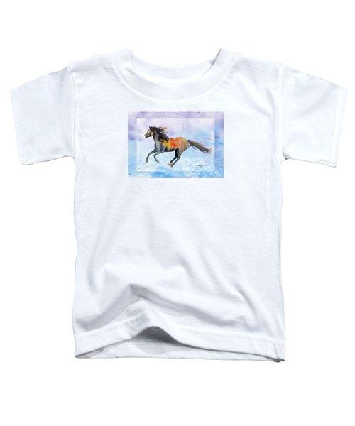Da114 Free Gallop By Daniel Adams Toddler T-Shirt