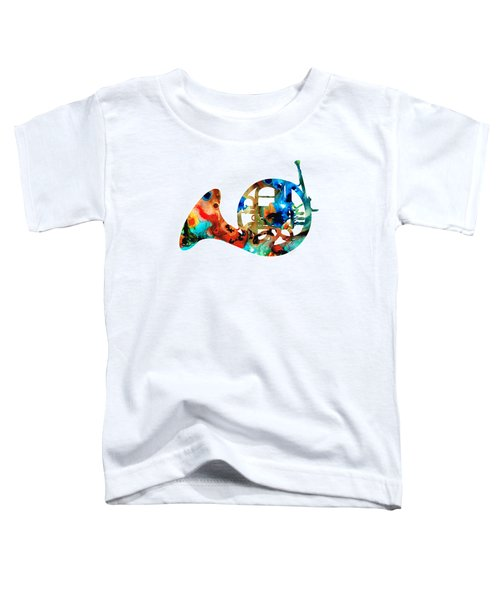 French Horn - Colorful Music By Sharon Cummings Toddler T-Shirt