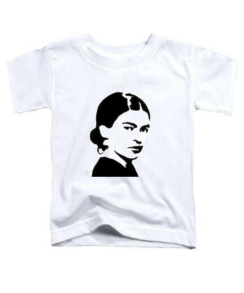 Frida Black And White Toddler T-Shirt