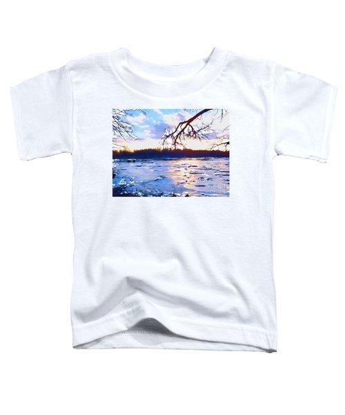 Frozen Delaware River Sunset Toddler T-Shirt