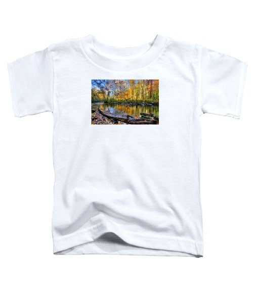 Toddler T-Shirt featuring the photograph Full Box Of Crayons by Debra and Dave Vanderlaan