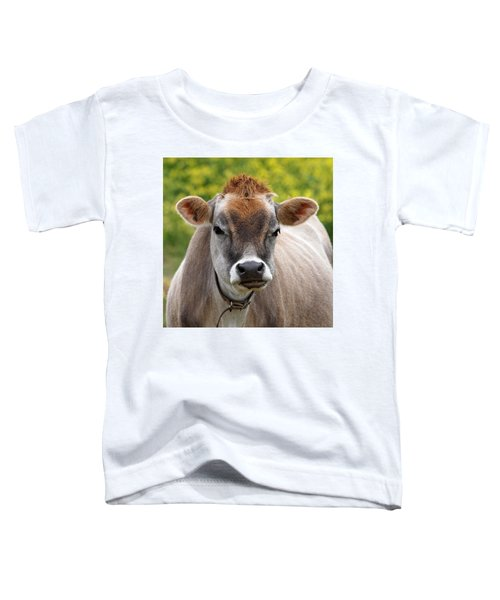 Funny Jersey Cow -square Toddler T-Shirt