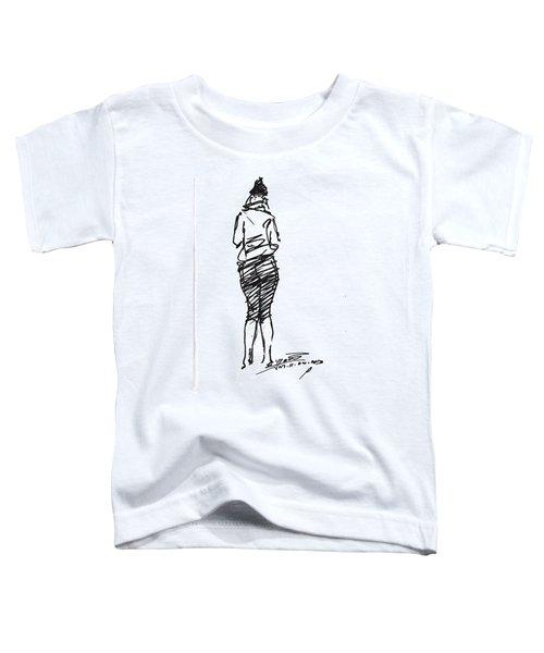 Girl Sketch Toddler T-Shirt