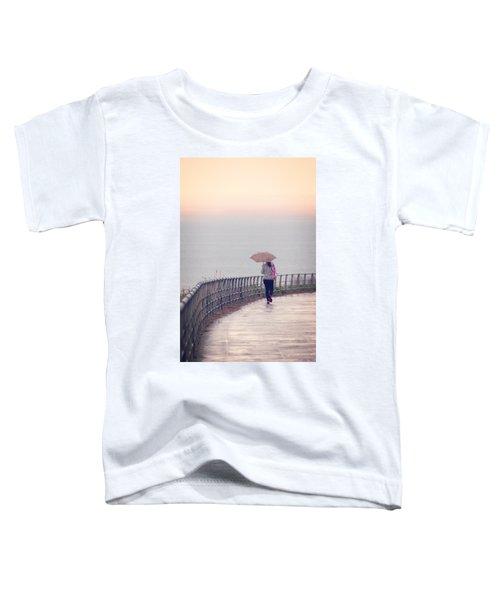 Girl Walking With Umbrella Toddler T-Shirt