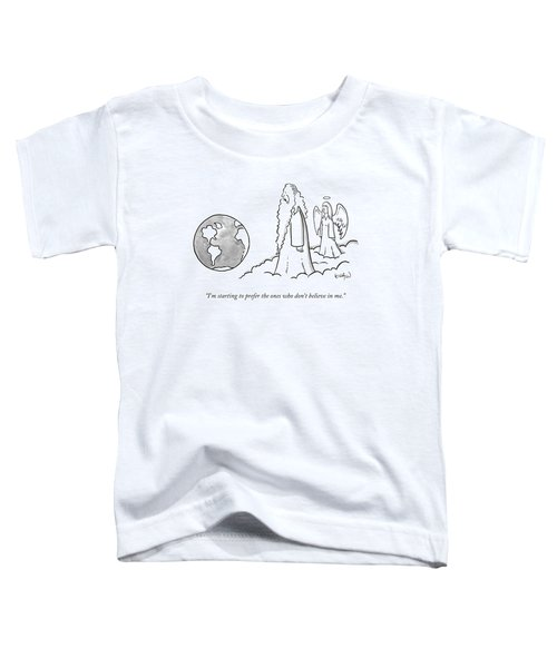 God Looks At Earth Toddler T-Shirt