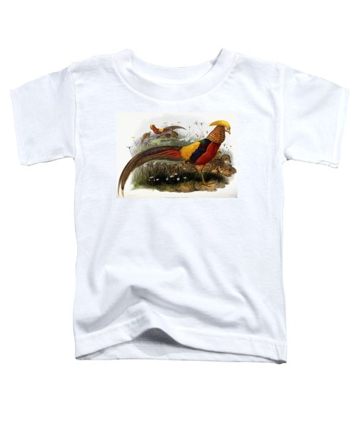 Golden Pheasants Toddler T-Shirt by Joseph Wolf