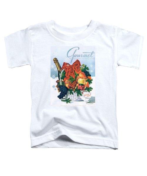 Gourmet Cover Illustration Of Holiday Fruit Basket Toddler T-Shirt