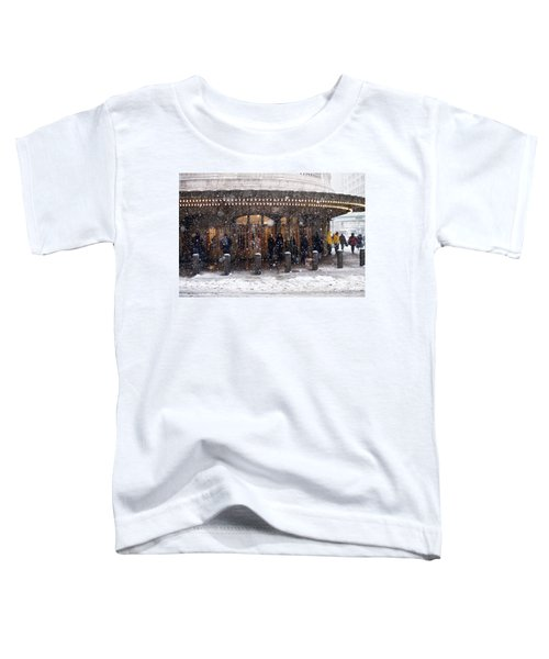 Grand Central Terminal Snow Color Toddler T-Shirt