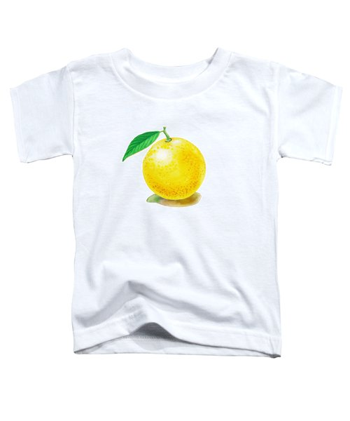 Toddler T-Shirt featuring the painting Grapefruit by Irina Sztukowski