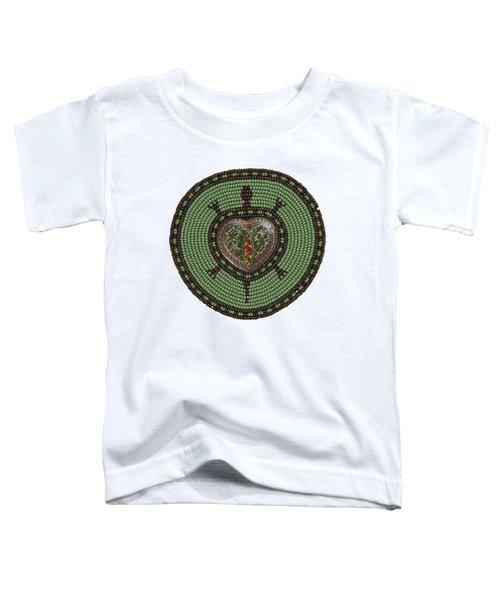 Green Heart Turtle Toddler T-Shirt
