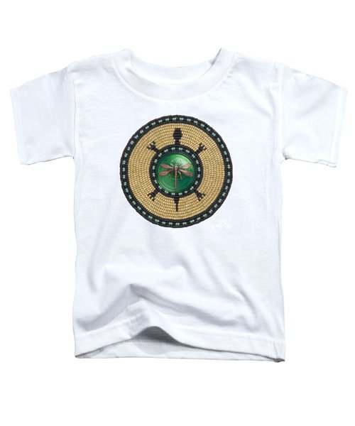 Green Jewel Dragonfly Turtle Toddler T-Shirt