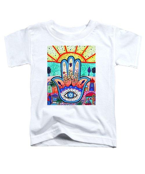 Hamesh Evil Eye Toddler T-Shirt