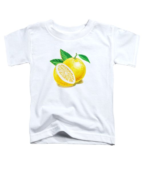 Toddler T-Shirt featuring the painting Happy Grapefruit- Irina Sztukowski by Irina Sztukowski