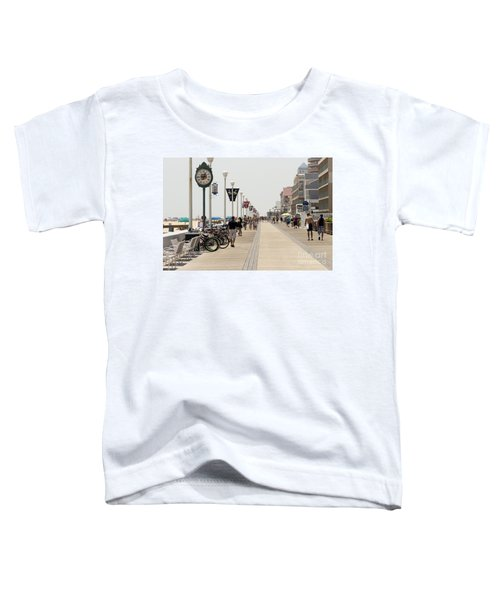 Heat Waves Make The Boardwalk Shimmer In The Distance Toddler T-Shirt