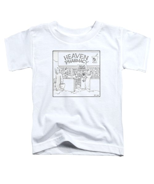 Heaven Pharmacy Features Angels Loading Toddler T-Shirt
