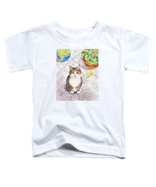 Here Kitty Kitty Kitty Toddler T-Shirt by Irina Sztukowski