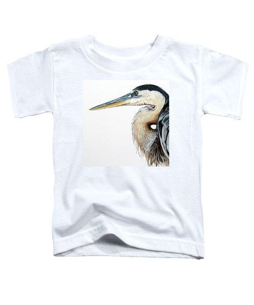 Heron Study Square Format Toddler T-Shirt