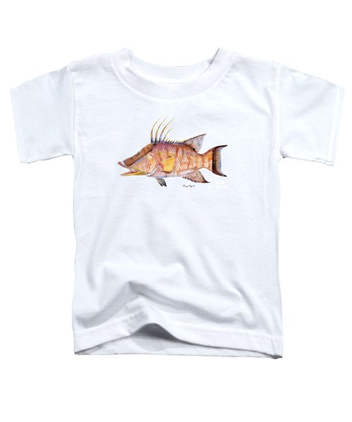 Hog Fish Toddler T-Shirt by Carey Chen