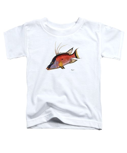 Hogfish On White Toddler T-Shirt