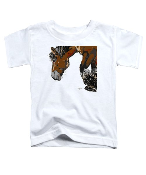 Toddler T-Shirt featuring the painting horse - Guus by Go Van Kampen