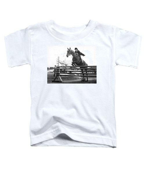 Horse Taking Jump Toddler T-Shirt