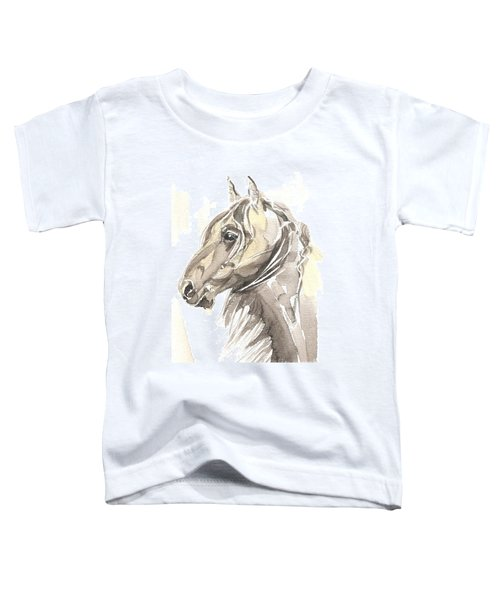 Toddler T-Shirt featuring the painting Horse Thomas My Love by Go Van Kampen