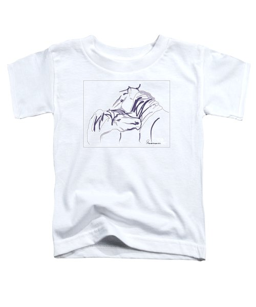 Toddler T-Shirt featuring the painting Horse - Together 10 by Go Van Kampen