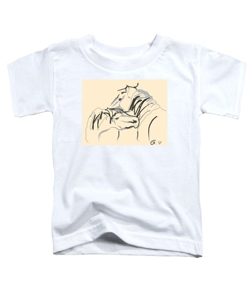 Toddler T-Shirt featuring the painting Horse - Together 4 by Go Van Kampen