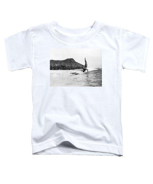 Hot Dog Surfers At Waikiki Toddler T-Shirt