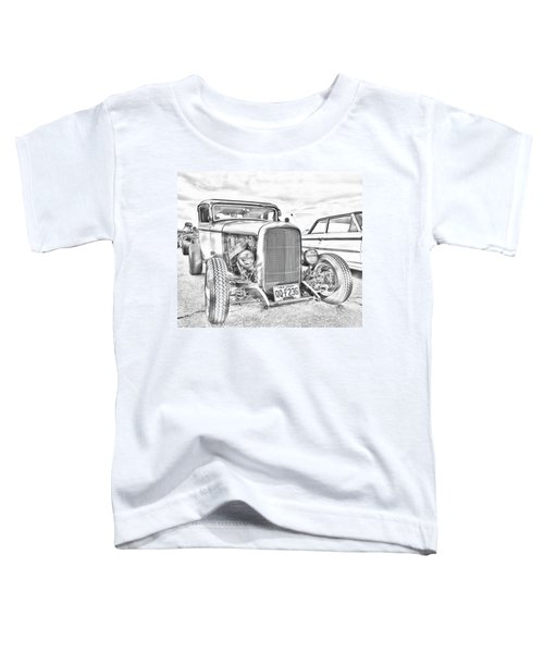 Hot Rod Faux Sketch Toddler T-Shirt