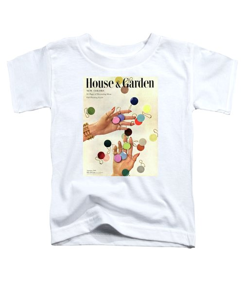House & Garden Cover Of Woman's Hands With An Toddler T-Shirt