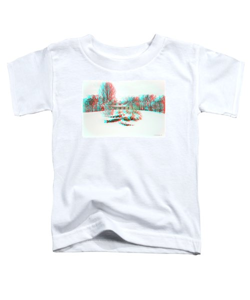 House On The Hill - Use Red/cyan Filtered 3d Glasses Toddler T-Shirt