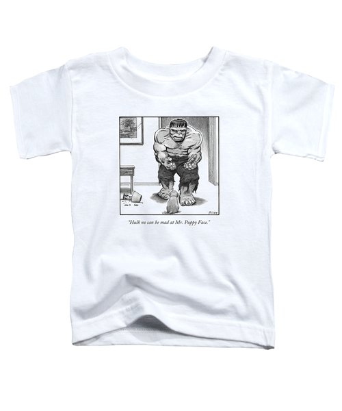 Hulk No Can Be Mad At Mr. Puppy Face Toddler T-Shirt