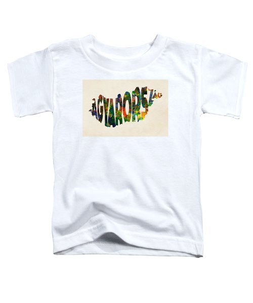 Hungary Typographic Watercolor Map Toddler T-Shirt
