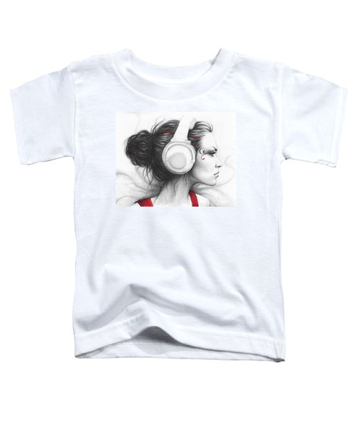 I Love Music Toddler T-Shirt