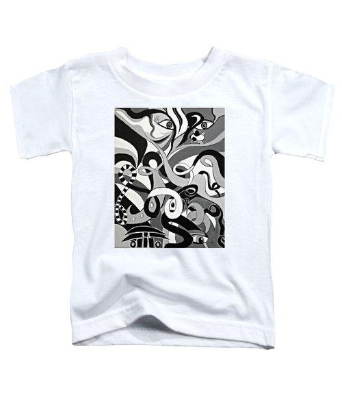 Black And White Acrylic Painting Original Abstract Artwork Eye Art  Toddler T-Shirt