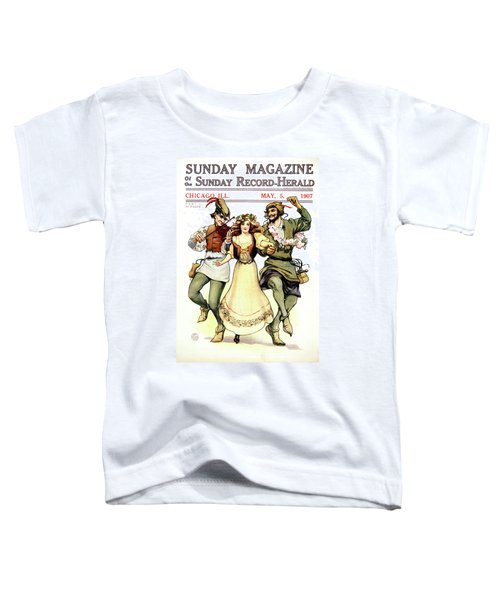 Illustration Of Medieval May Day Folk Toddler T-Shirt