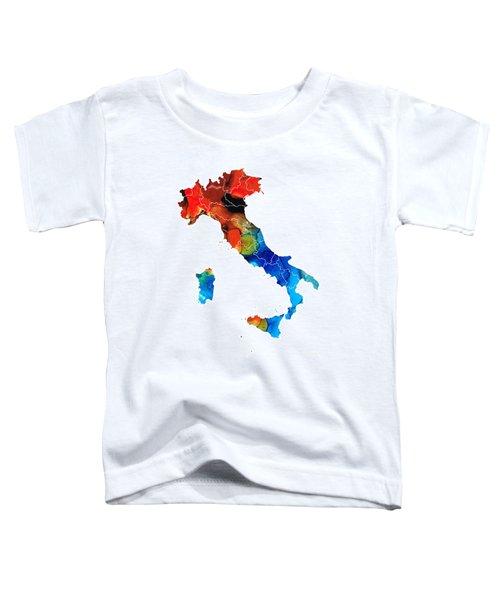 Italy - Italian Map By Sharon Cummings Toddler T-Shirt