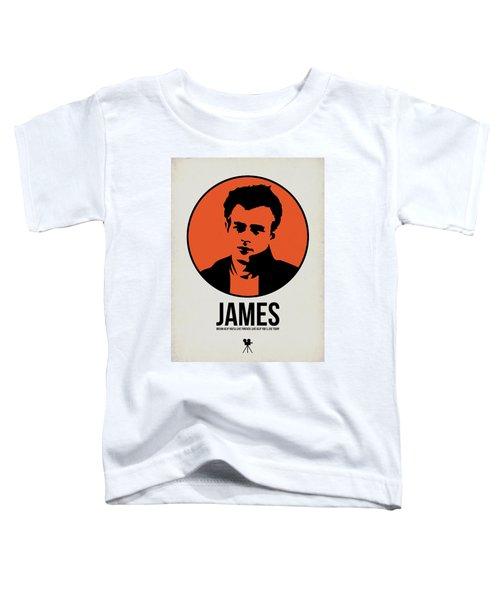 James Poster 1 Toddler T-Shirt by Naxart Studio